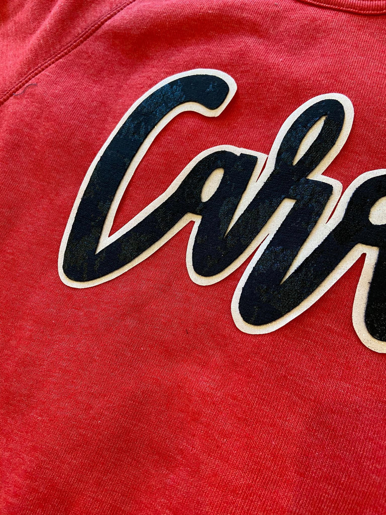 CARDS - RED FLEECE CREW