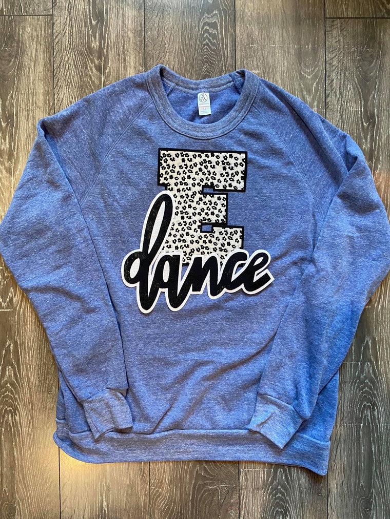E + DANCE - BLUE FLEECE CREW