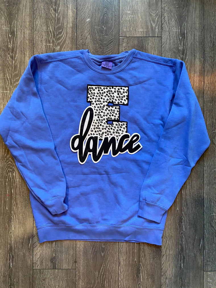 E + DANCE - BLUE COMFORT COLORS CREW