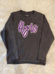 FLYERS - DARK GREY THERMAL PULLOVER