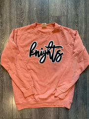 KNIGHTS - ORANGE COMFORT COLORS CREW
