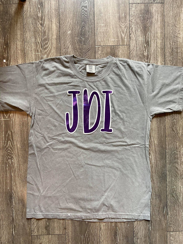 PURPLE METALLIC JDI - GREY COMFORT COLORS TEE