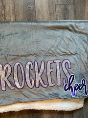 ROCKETS CHEER - SHERPA BLAKET
