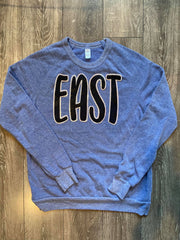 EAST - BLUE FLEECE CREW