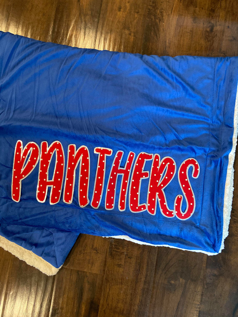 PANTHERS - BLUE SHERPA BLANKET