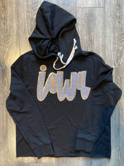 GOLD/ BLACK IOWA - BLACK LIGHTWEIGHT HOODIE