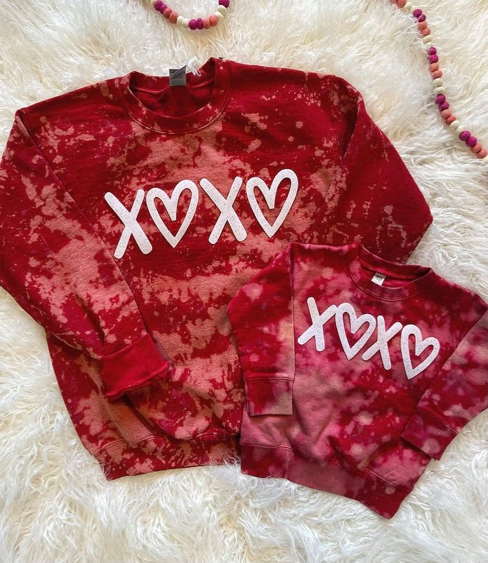 RED DYED - XOXO - TODDLER + ADULT
