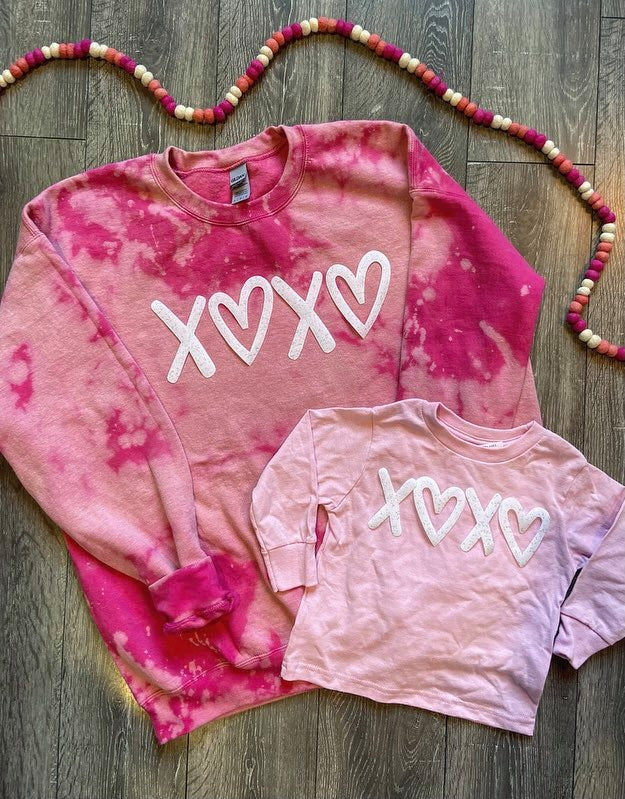 PINK DYED - XOXO - TODDLER + YOUTH + ADULT