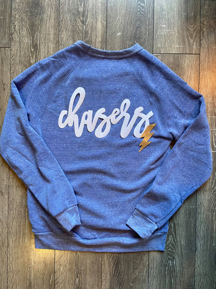 CHASERS - BLUE FLEECE CREW