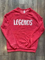 LEGENDS (SWEET PEA) - RED FLEECE CREW