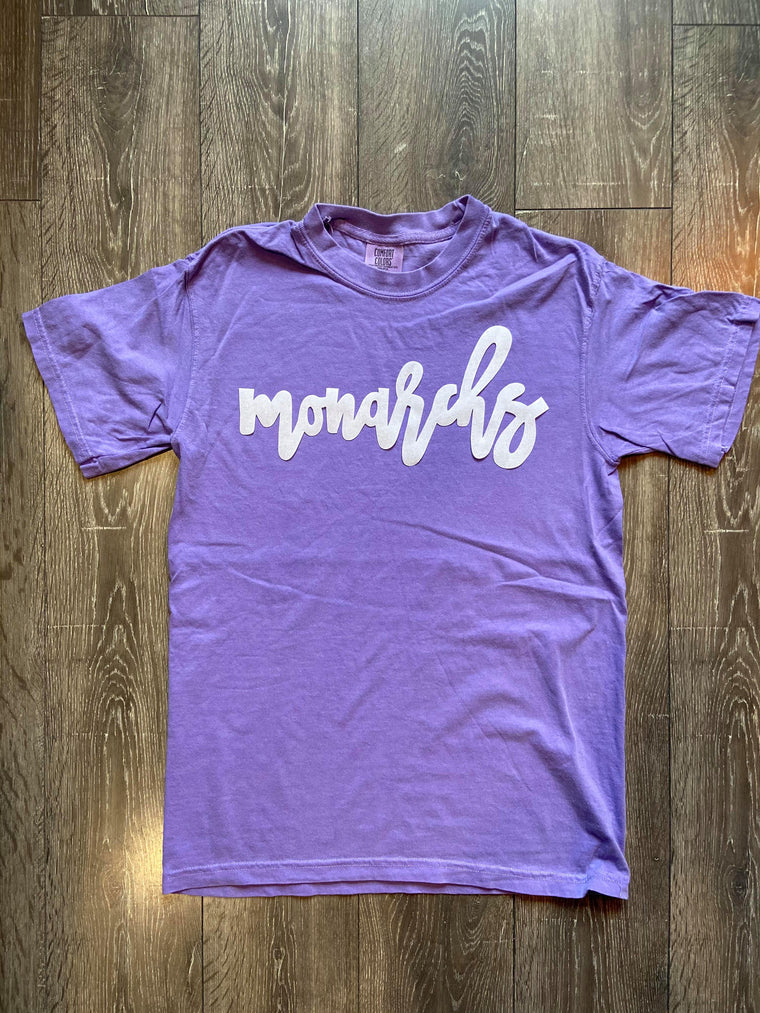 MONARCHS - PURPLE COMFORT COLORS TEE