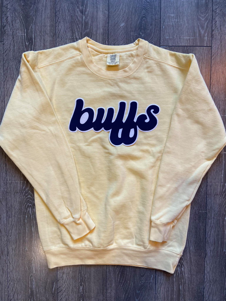 BUFFS - YELLOW COMFORT COLORS CREW