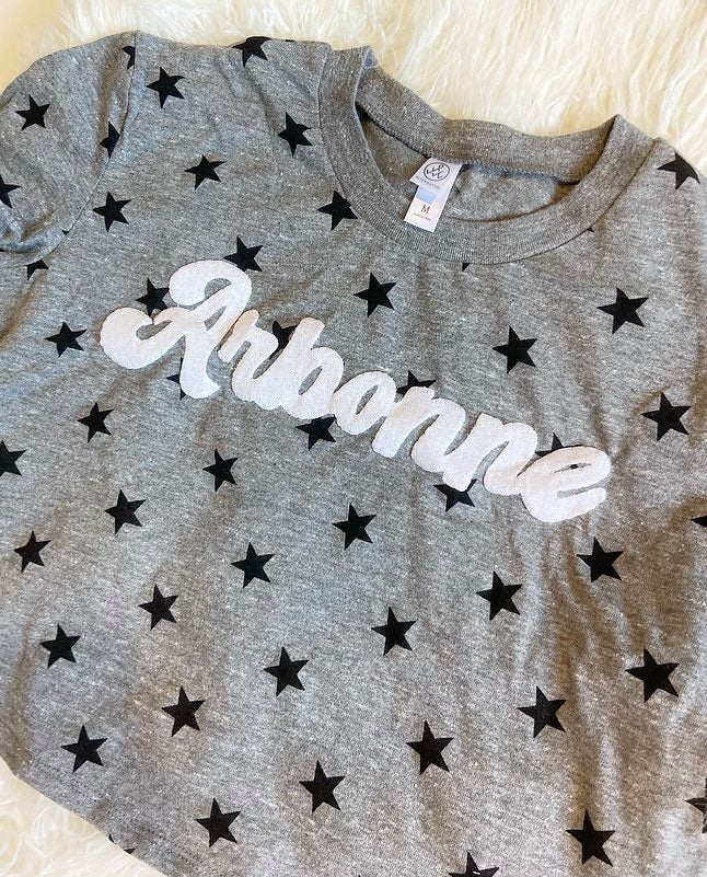 ARBONNE STAR CROP TOP TEE