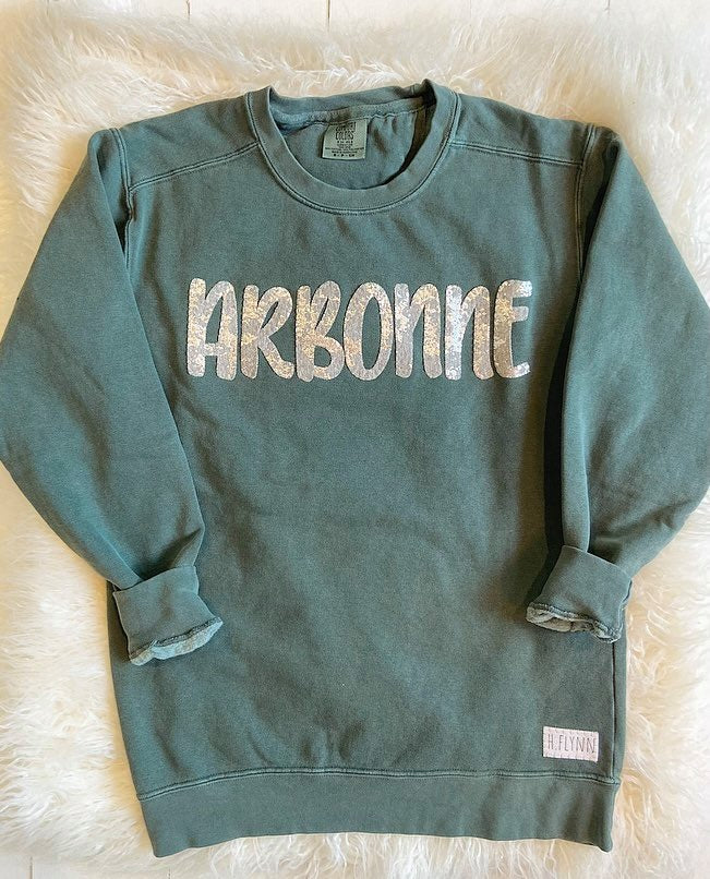 SWEET PEA ARBONNE GREEN COMFORT COLORS CREW