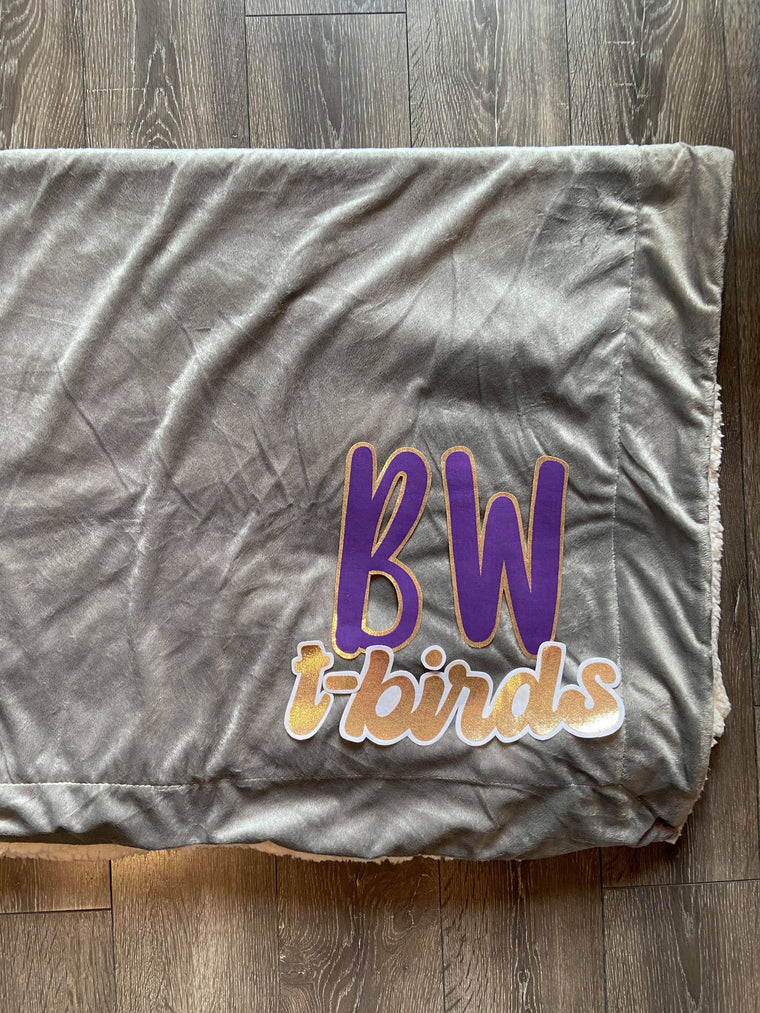 BW T-BIRDS - GREY SHERPA BLANKET