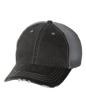 GREY TRUCKER HAT