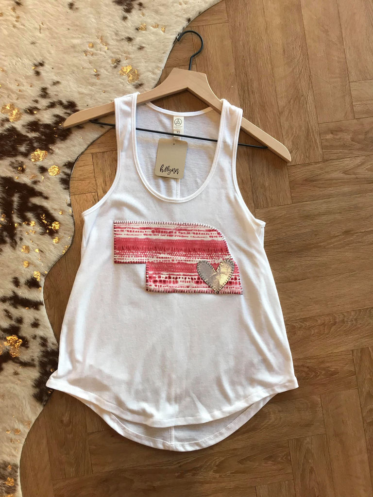 RED TIE-DYE STATE TANK