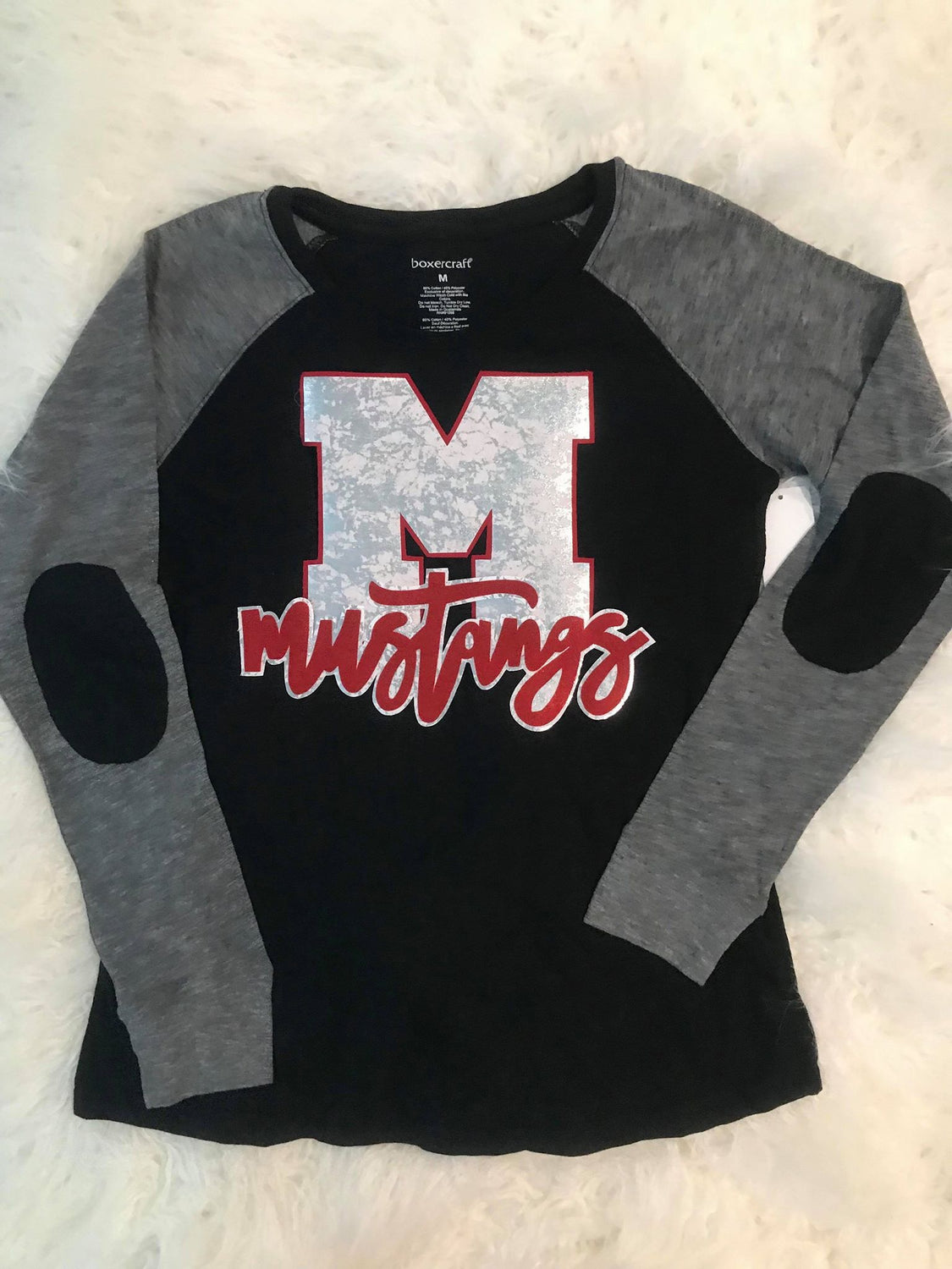 M MUSTANGS PREPPY PATCH *YOUTH + ADULT*