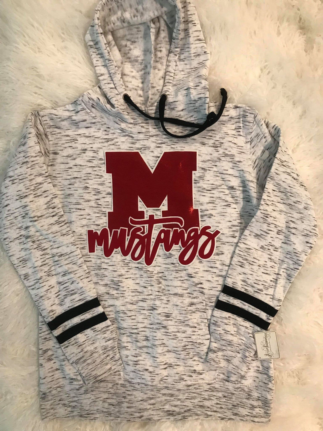 M MUSTANGS FLEECE ATHLETIC HOODIE