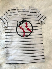 SOFTBALL + LOCOS STRIPE TEE