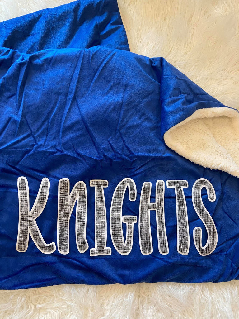 KNIGHTS BLUE SHERPA BLANKET