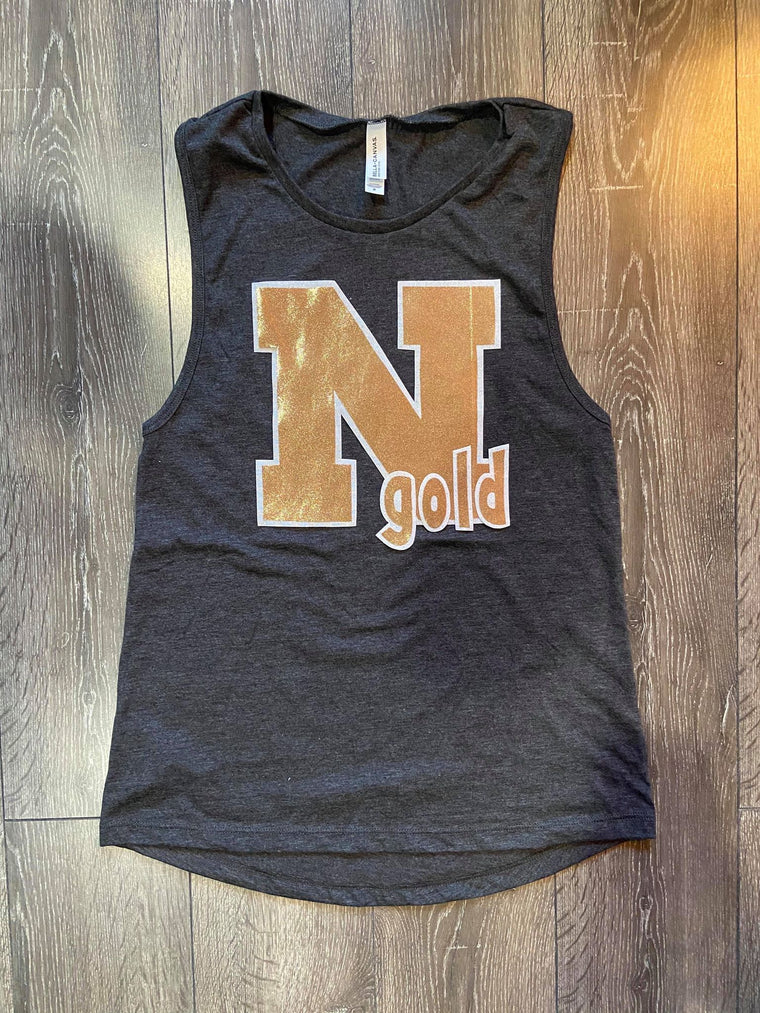 N GOLD MUSCLE TANK