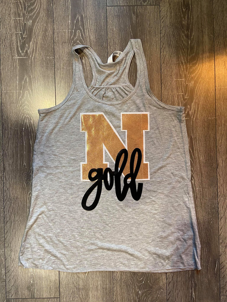 GOOD N + GOLD RACERBACK TANK