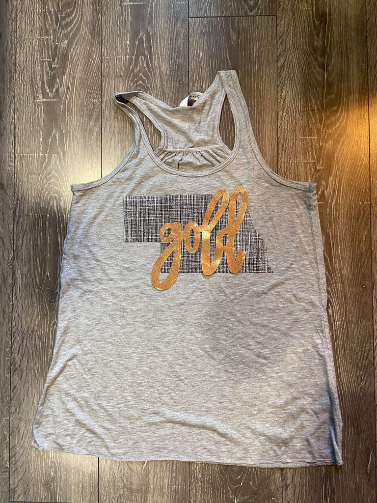 STATE + GOLD RACERBACK TANK