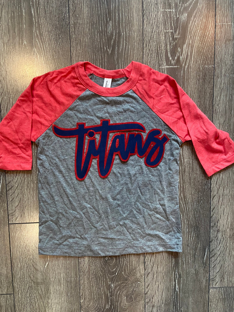 TITANS - TODDLER/ YOUTH BASEBALL TEE