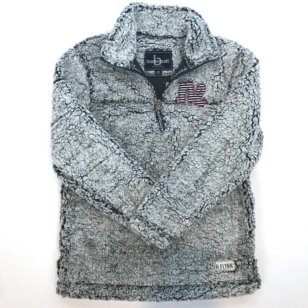 Sherpa Quarter Zip with 'NE'