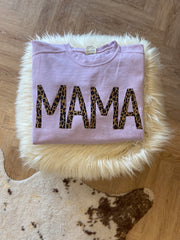 "LAVENDER WITH CHEETAH ""MAMA"" CREW"