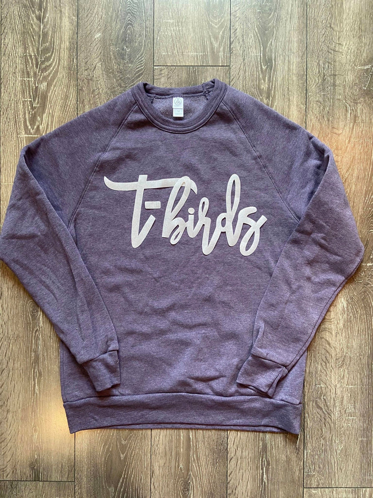 T-BIRDS PURPLE FLEECE CREW