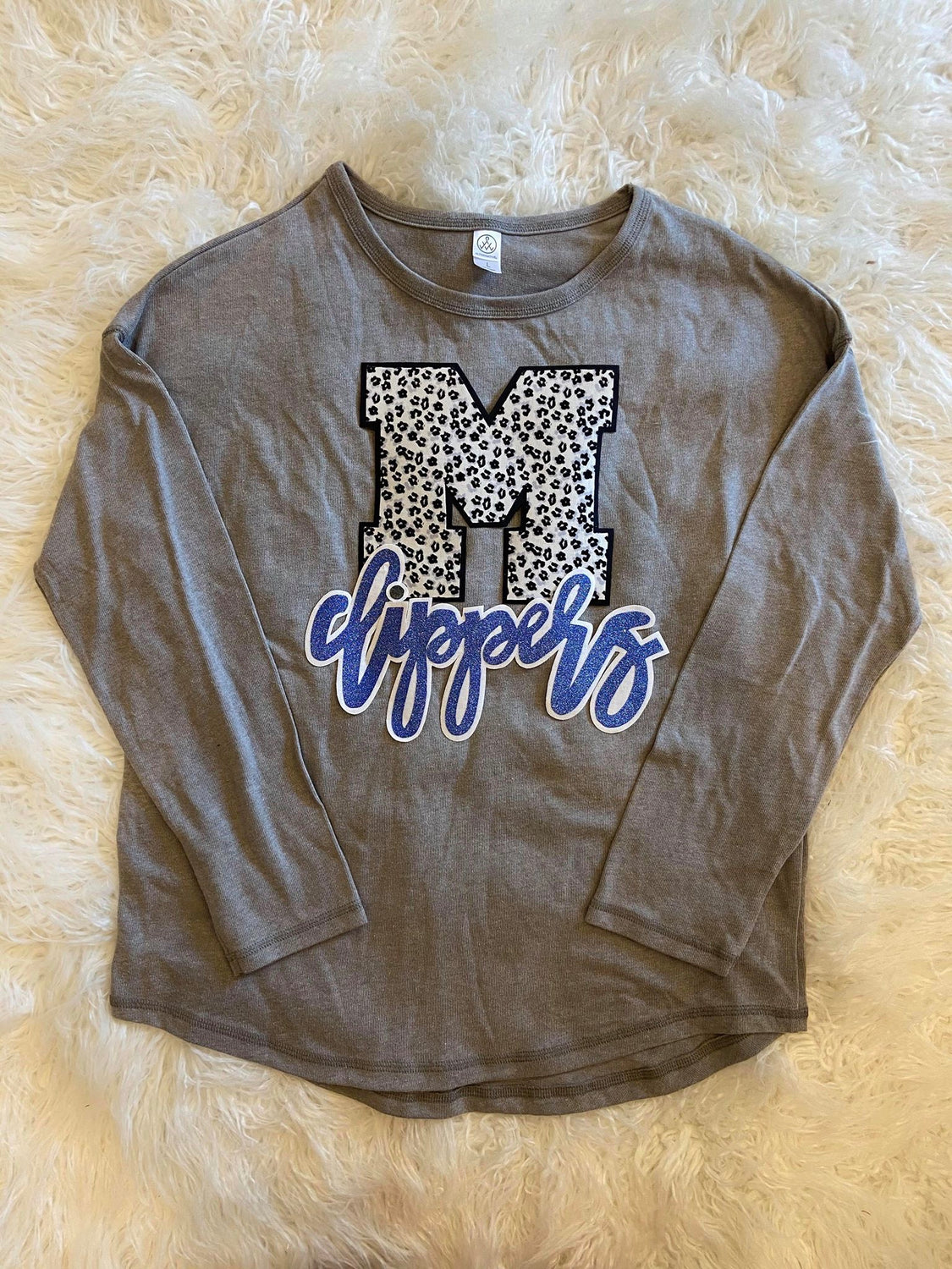 M + CLIPPERS GREY LONG SLEEVE THERMAL