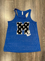 M + ANCHOR BLUE RACERBACK TANK