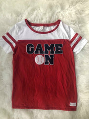 GAME ON + BALL SHORT SLEEVE JERSEY TEE