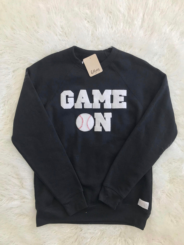 GAME ON FLEECE CREWNECK + CUSTOM NUMBER