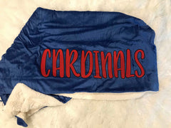 CARDINALS BLUE SHERPA BLANKET