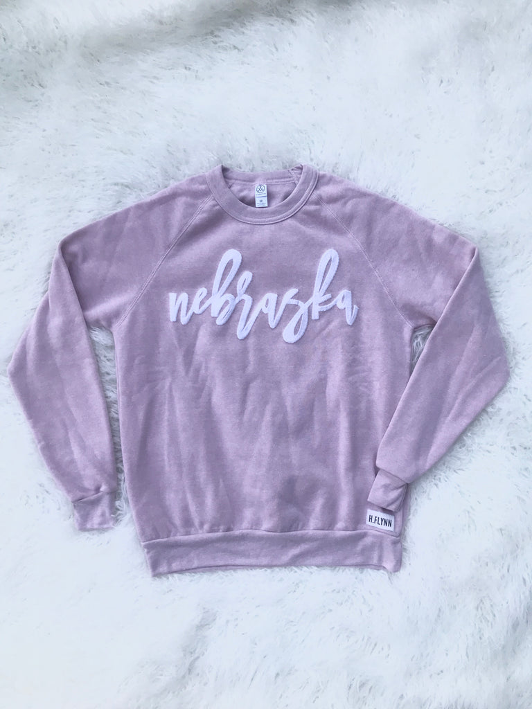 ROSE PINK CREW WITH WHITE SPARKLE NEBRASKA
