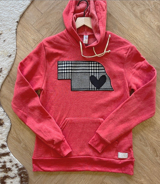 HOUNDSTOOTH STATE RED HOODIE