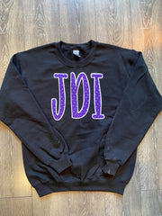 PURPLE POLKA JDI - BLACK GILDAN CREW