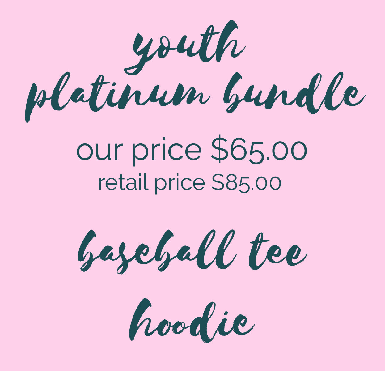 YOUTH PLATINUM BUNDLE - CUSTOM SCHOOL/ TEAM APPAREL