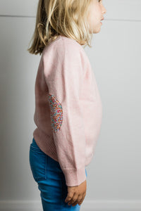 Lolly Pink Florence Jumper with Liberty Patches