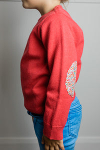 Red Florence Jumper with Liberty Patches