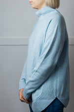 Load image into Gallery viewer, Baby Blue Funnel Neck Jumper