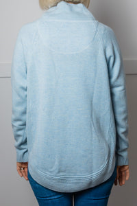 Baby Blue Funnel Neck Jumper