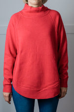 Load image into Gallery viewer, Red Funnel Neck Jumper