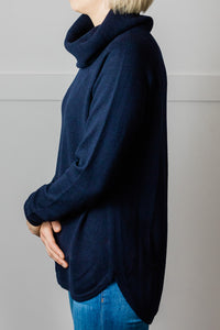 Navy Cowl Swing Jumper