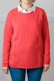 Red Swing Jumper with Liberty Patches