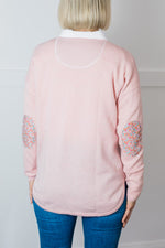 Load image into Gallery viewer, Lolly Pink Swing Jumper with Liberty Patches