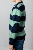 Mint and Navy Stripe George Jumper